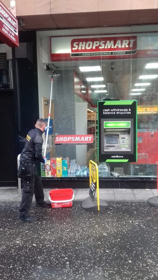 shop window cleaning - shopsmart - Glasgow